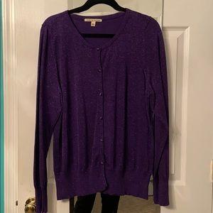 Purple sparkle cardigan